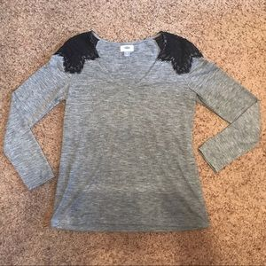 [Old Navy] Lace Shoulder Tee